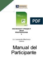 Curso Project 2010 LMachuca