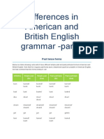 Differences in American and British English Grammar -Part 2
