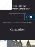 Digging Into the WordPress by Customizer