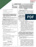 Ley que modifica el Decreto de Urgencia N° 058-2011 por el que se dictan medidas urgentes y extraordinarias en materia económica y financiera para mantener y promover el dinamismo de la economía nacional