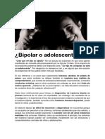 Bipolar o Adolescente