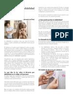 El Divorcio Por Infidelidad en Perú
