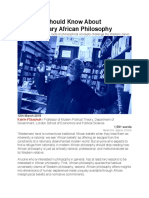 Flikschuh What You Should Know About Contemporary African Philosophy