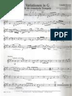 Kreutzer Variaciones en Sol for Trumpet