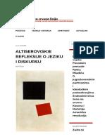 Altiserov(Sk)e Refleksije o Jeziku i Diskursu TC Linija