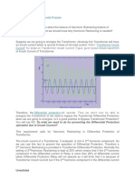 Harmonic Restraining in Differential Protection