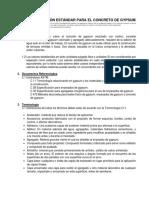 Especificación Estándar Para El Concreto de Gypsum