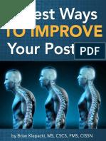 3 Best Ways to Improve Your Posture