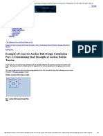 Concrete Anchor Foundation Bolt Design Calculations With Example According to ACI 318 Appendix D-Part1-Steel Strength in Tension