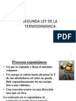 Clase Segunda Ley de La Termodinamica 2018-i