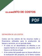 Elementos de Costos