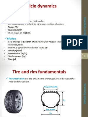 1  Tire and rim fundamentals pptx | Tire | Vehicle Parts