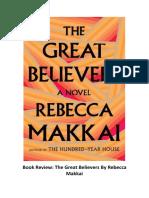 Novel Review Thе Grеаt Bеlіеvеrѕ Bу Rebecca Mаkkаі
