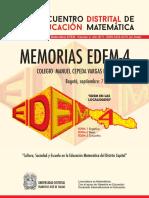 Memorias Cuarto Encuentro Distrital de Educación Matemática