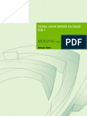 Tegra_Linux_Driver_Package_Release_Notes_R28 1 pdf | Device