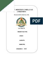 Monografia de La Palta - 03 de Agosto 2015