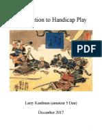 Shogi, Introduction to Handicap Play