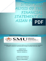 Study and Analysis of the Financial Statement of Asian Paints Final