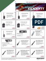 Epcom Dealers Gold Radios