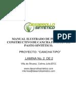 Manual Ilustrado Proceso Constructivo de gras sintetico