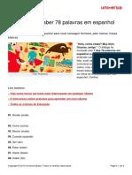Precisa Saber 78 Palavras Espanhol