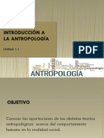 Unidad 1 La Antropoligia Como Ciencia Del Hombre