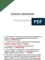 examen ordinario patologia