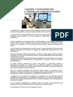 Responsabilidades y Funciones Del Analista Del Centro de Comunicaciones