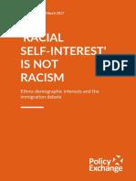 Racial Self Interest is Not Racism