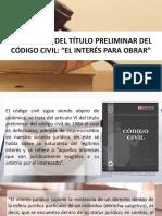 Presentación, Derecho Civil