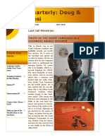 Newest Newsletter from Ethiopia