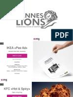 Cannes Lions 2018 (Презентация Кейсов)