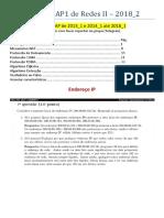 Resumo Para AP1 de Redes II