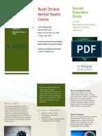 Sexual Disorders Brochure - English