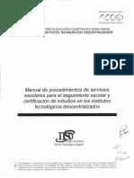 Manual de Procedimientos de Servicios Escolares