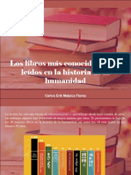 Carlos Erik Malpica Flores - Los Libros Más Conocidos y Más Leídos en La Historia de La Humanidad