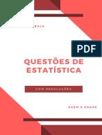 Questões de Estatística - Enem-Enade (com resoluções) - Prof MSc Uanderson Rebula