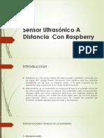 Sensor Ultrasónico a Distancia Con Raspberry