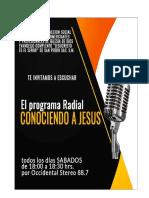 Programa Radial Conociendo a Jesus