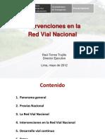 Intervenciones en La Red Vial Nacional Mayo 2012