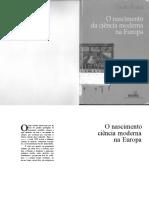 ROSSI, Paolo. O Nascimento Da Ciência Moderna Na Europa