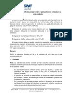 Procedimiento de Preparación y Aplicación de Soldadura a Una Probeta Cañ.