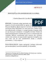 Reflexos Da Pós-modernidade Na Igreja - Cláudio Manoel de Carvalho Ferreira Martins