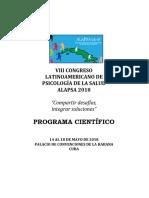 Programa ALAPSA Cuba 2018