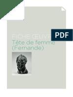 Tete de Femme Fernande 1909
