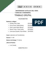 INFORME PSICROMETRÍA- ENSAYOS A CONDICIONES NORMALES