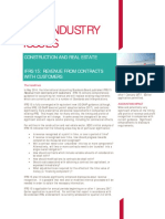 BDO. Industry Issues.ifrs. Real Estate and Constructions