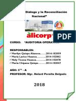 AUDITORIA OPERATIVA ALICORP