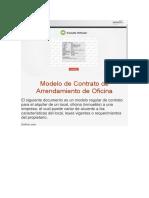 Modelo de Contrato de Arrendamiento de Oficina
