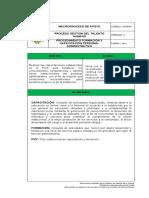 Procedimiento Formacion y Capacitacion Personal Administrativo